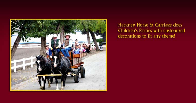 Hackney Horse & Carriage does Children's Parties! 